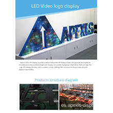 Pantalla de logotipo LED digital brillante